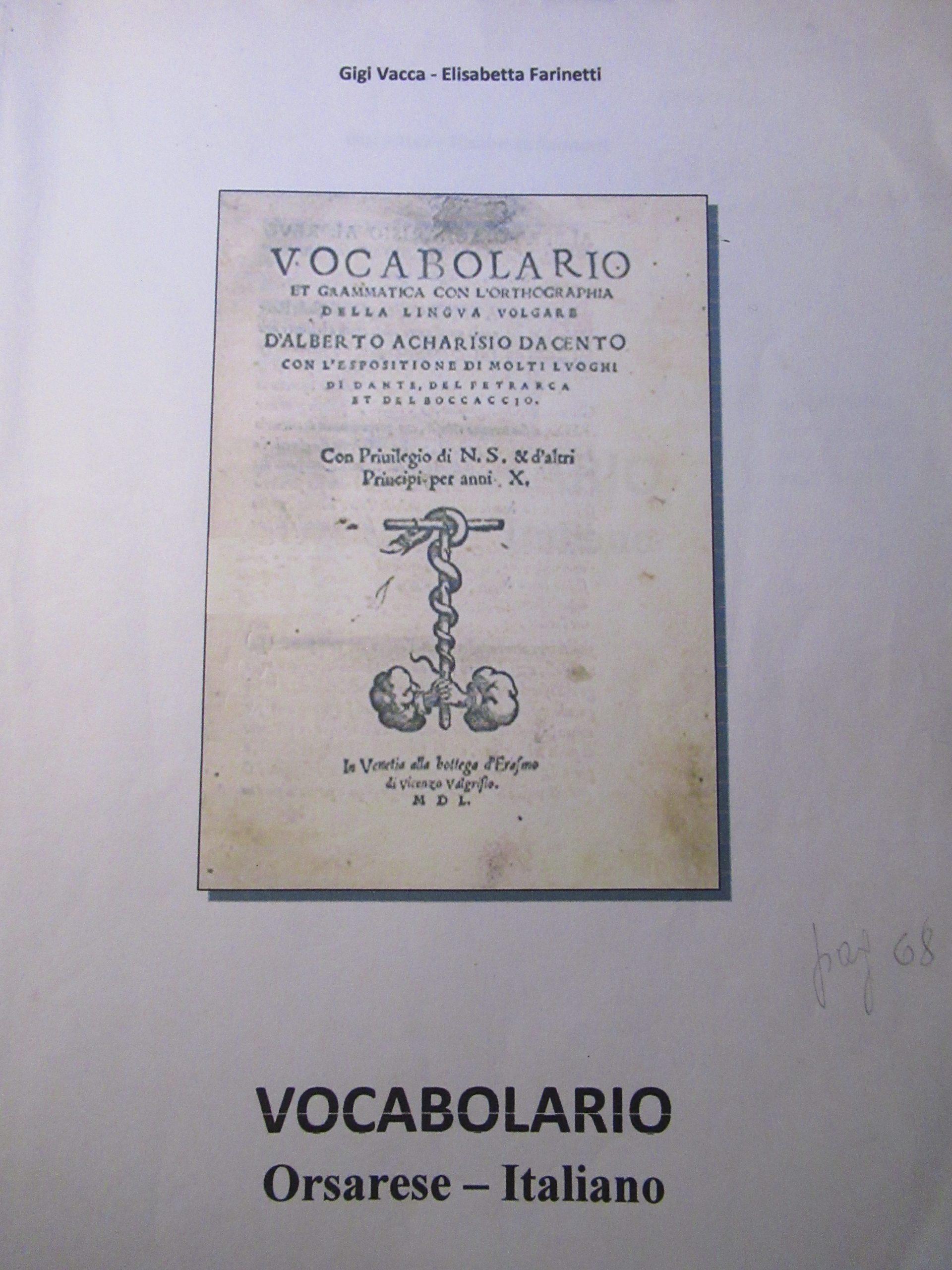 VOCABOLARIO ORSARESE-ITALIANO
